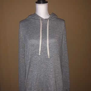 Express One Eleven Large Gray Hoodie—SOFT!